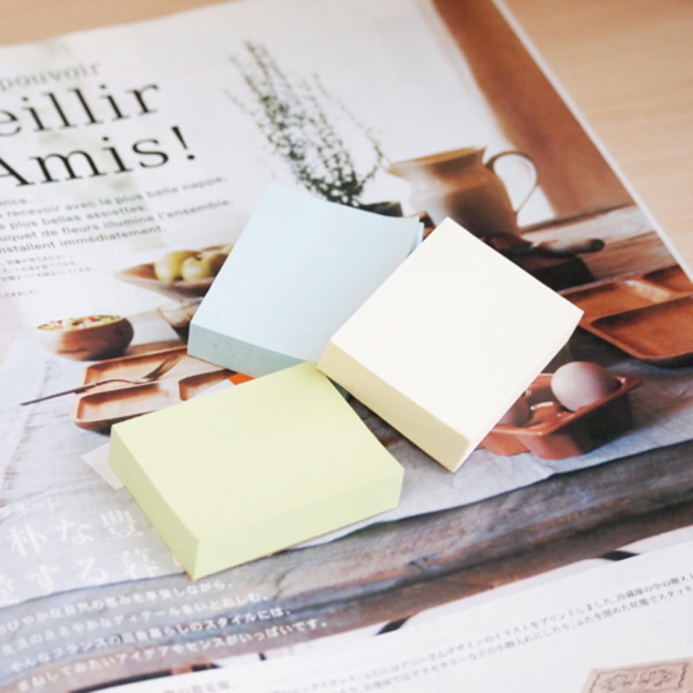 "Notes autoadeziv 38x51 mm, 3x100 file/set, Stick""n - 3 culori pastel"