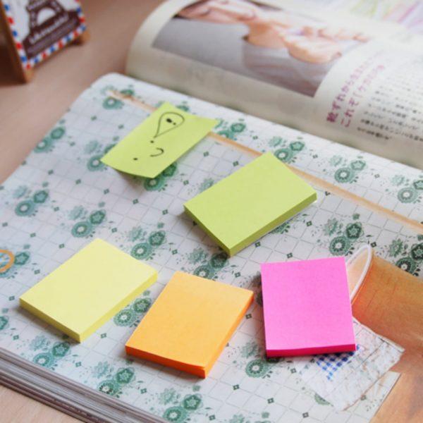 "Notes autoadeziv 38x51 mm, 12x100 file/set, Stick""n - 3 culori neon"