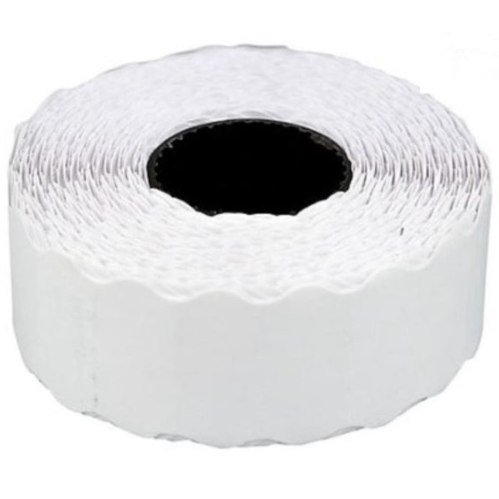 Etichete de pret 26 x 12 mm, 1000buc/rola, 6 role/set, TANEX - albe
