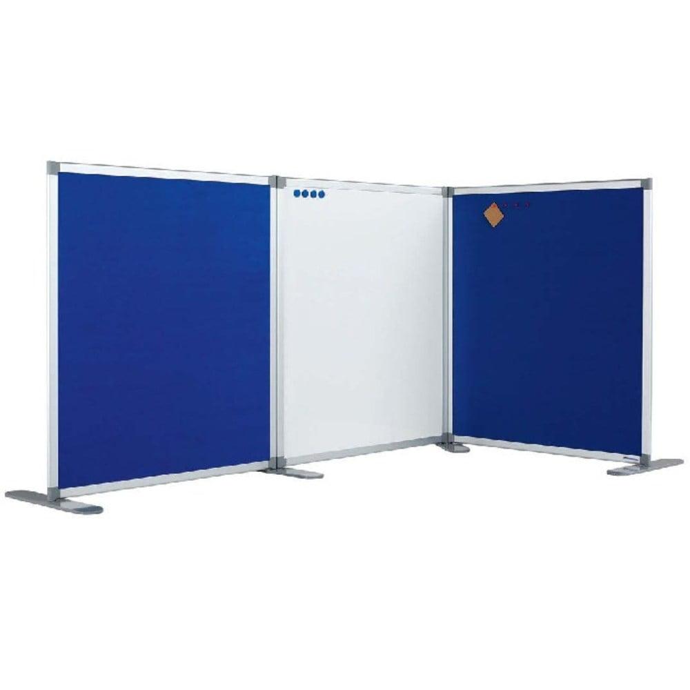 Perete despartitor cu panou textil albastru 180 x 120 cm, SMIT