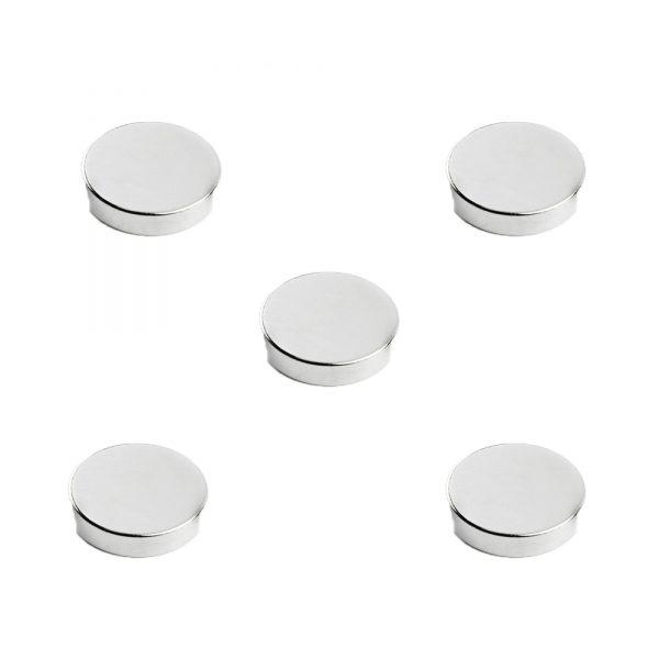 Magneti pentru tabla magnetica din sticla,D25 mm, 5/set, SMIT