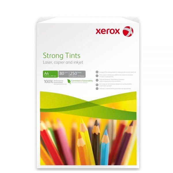 Hartie color A4 asortata XEROX Symphony intens, 80 g/mp, 250 coli/top