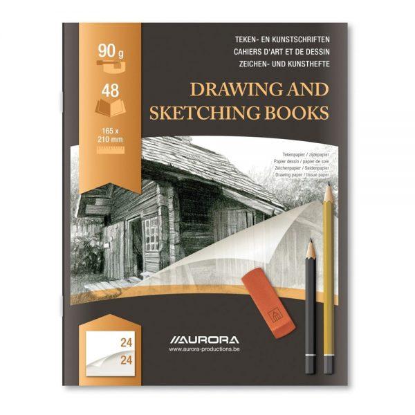 """Caiet desen A5 24 file, pentru schite creion, AURORA D""""Art"""
