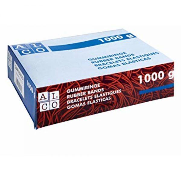 Elastice pentru bani, D 200 x 6mm, 1000g/cutie, ALCO
