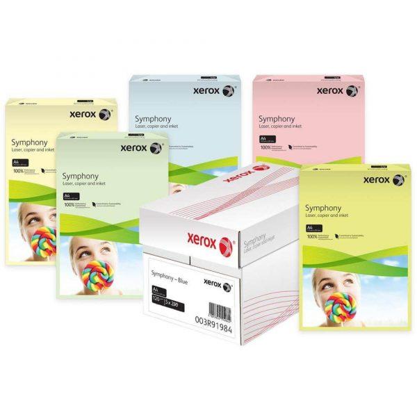 Carton color A4 XEROX Symphony intens, 160 g/mp, 250 coli/top