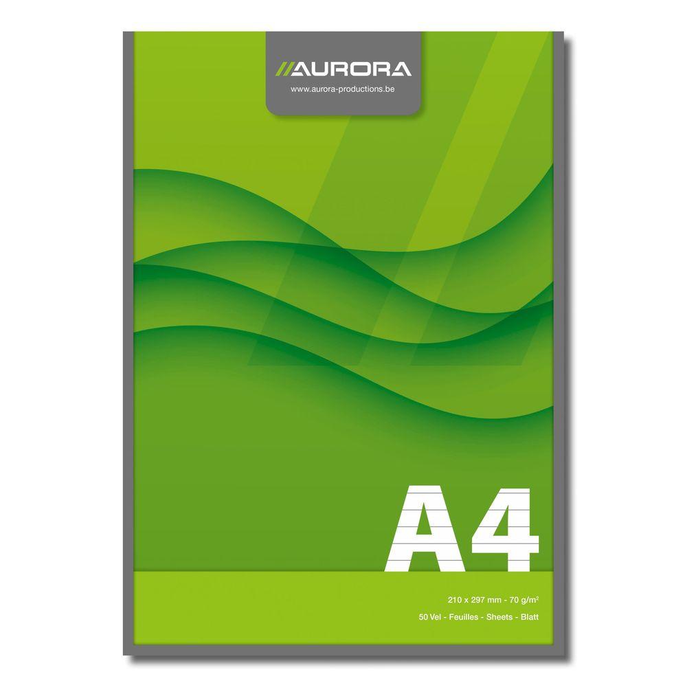 Blocnotes lipit A4 50 file AURORA Office - dictando