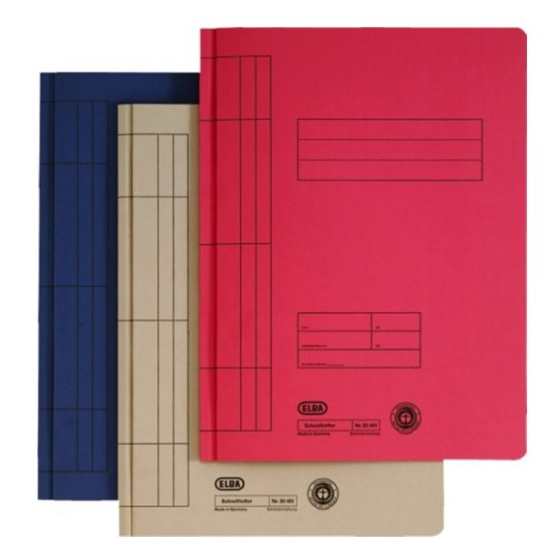 Dosar carton color cu sina ELBA