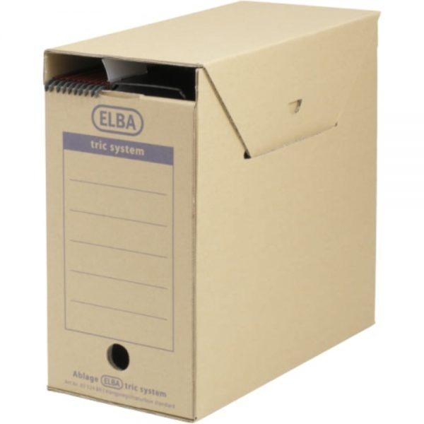 Cutie arhivare dosare suspendabile, 236 x 333 x 308 mm, kraft, ELBA Tric Maxi