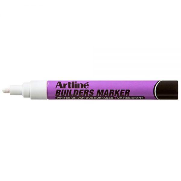 Marker pentru constructori ARTLINE, varf rotund 2.3mm - alb