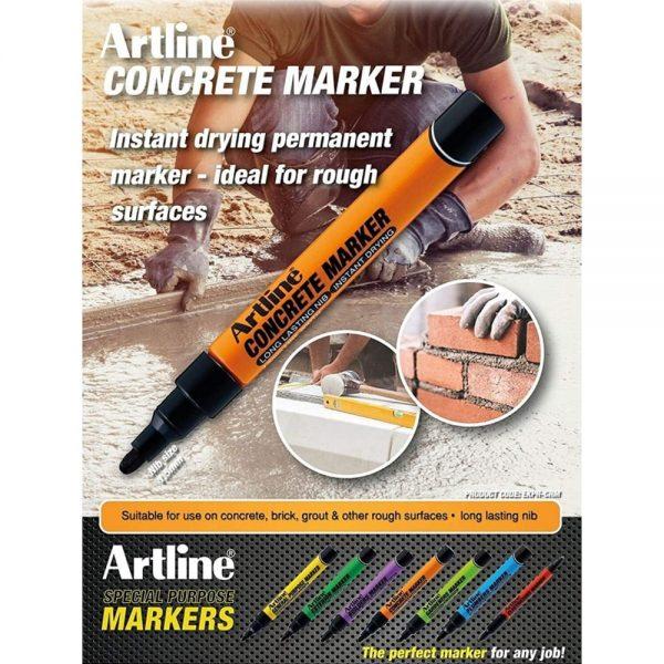 Marker pentru beton ARTLINE, varf 1.5mm - negru