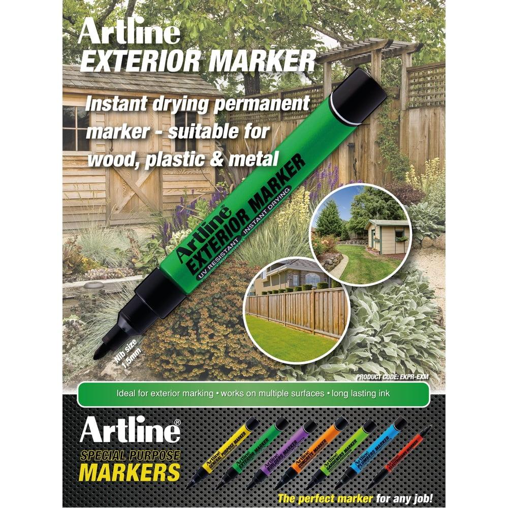 Marker pentru exterior ARTLINE, varf rotund 1.5mm - negru