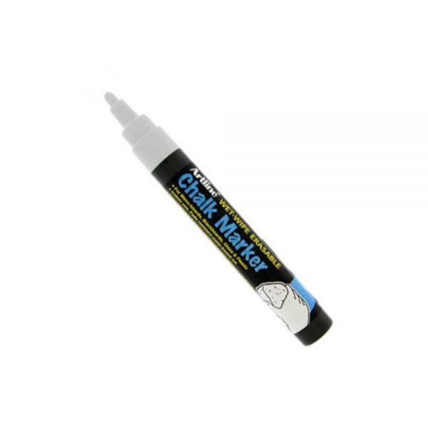 Marker cu creta lichida ARTLINE, varf 12.0mm - alb