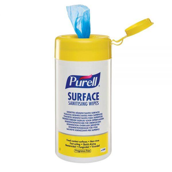 Servetele dezinfectante pentru suprafete Purell Surface,100 portii/pachet