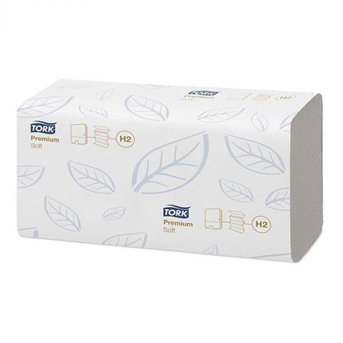 Prosoape de hartie Tork H2 100288, 2 straturi, albe, 110 buc/pachet, 21 pachete/bax