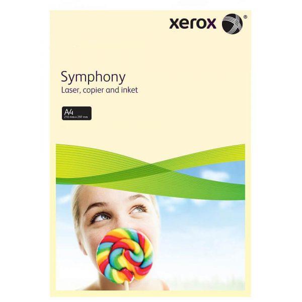 Hartie color A4 asortata XEROX Symphony pastel si intens, 80 g/mp, 100 coli/top