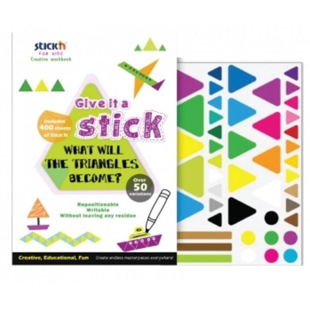 """Carte creativa Stick""""n Triangle - triunghiuri neon asortate"""