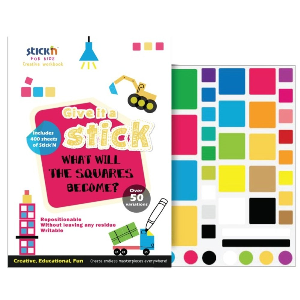 "Carte creativa Stick""n Square - patrate neon asortate"