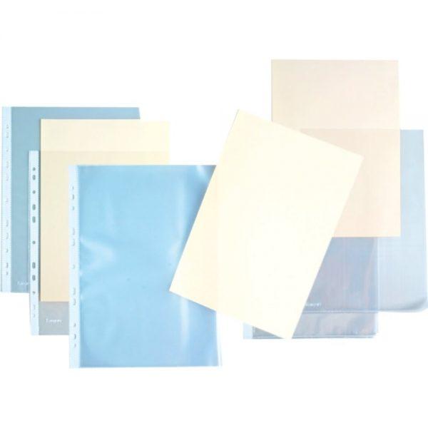 Folie protectie documente in L, 120 microni, 100 buc/cutie, KANGARO - cristal