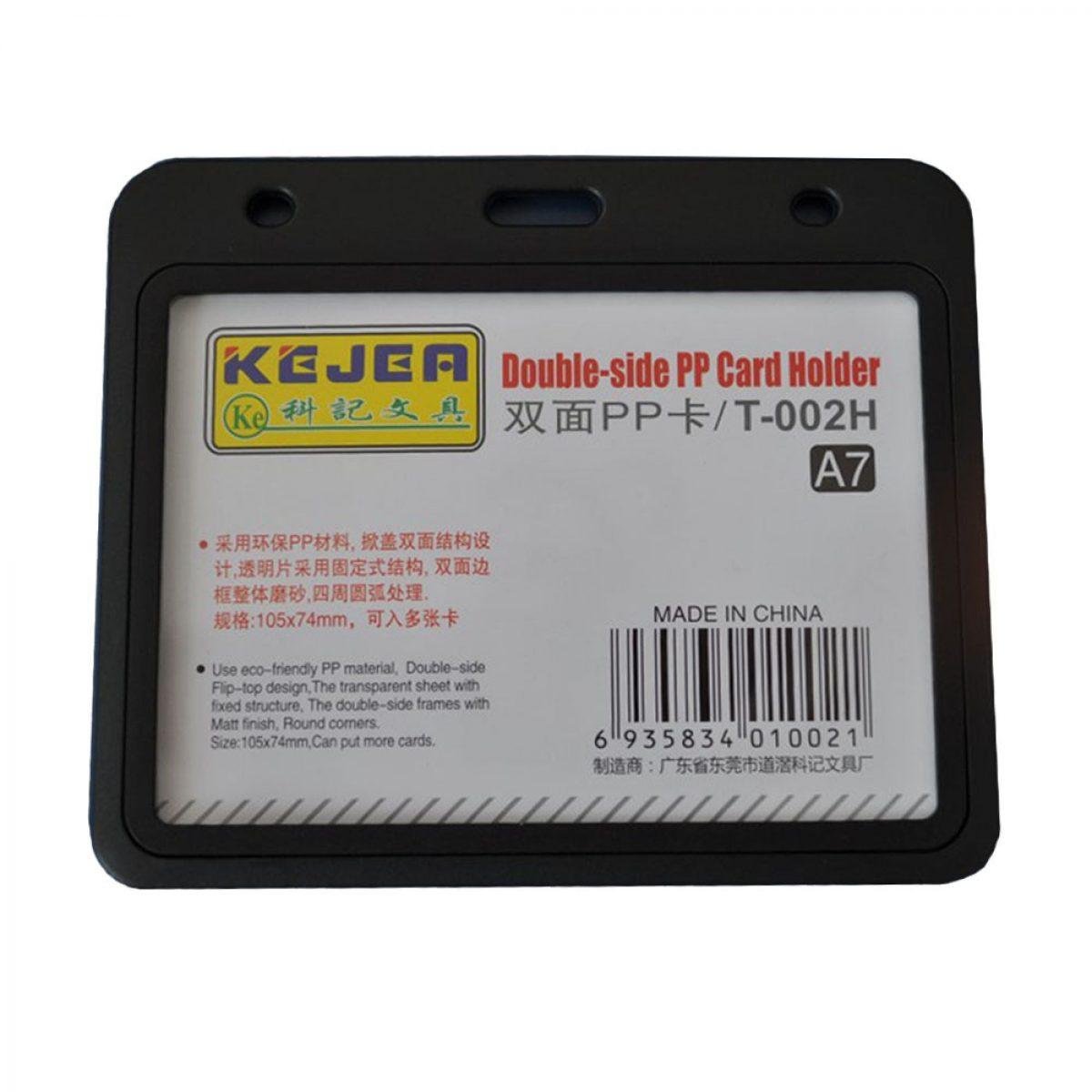 Suport card orizontal, 105x74 mm KEJEA T-002H, 5 buc/set
