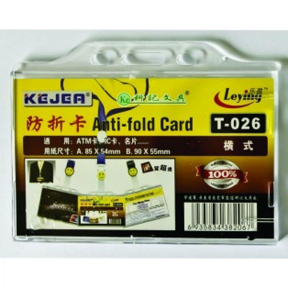Suport carduri orizontal, 85x54 mm KEJEA T-026H, 5 buc/set