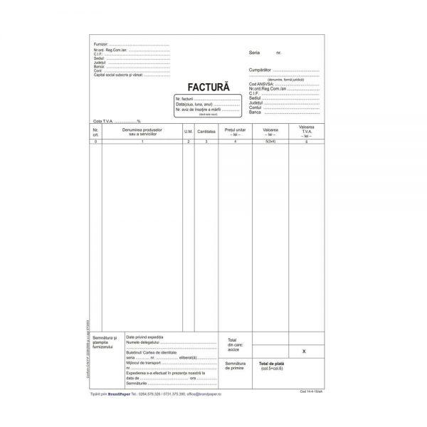 Facturier autocopiativ A4, 3 exemplare