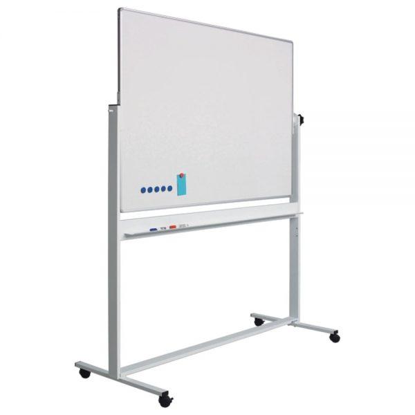 Tabla magnetica rotativa 90 x 120cm, pe stand mobil, SMIT
