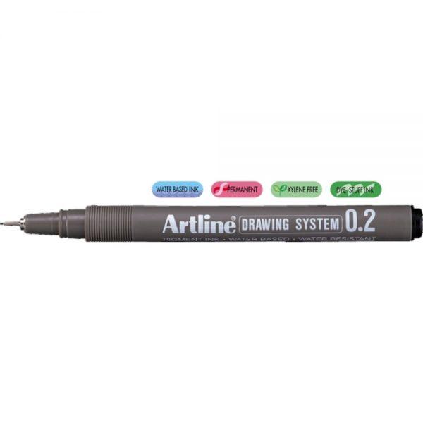 Marker varf fetru 0.2mm, pentru desen tehnic ARTLINE