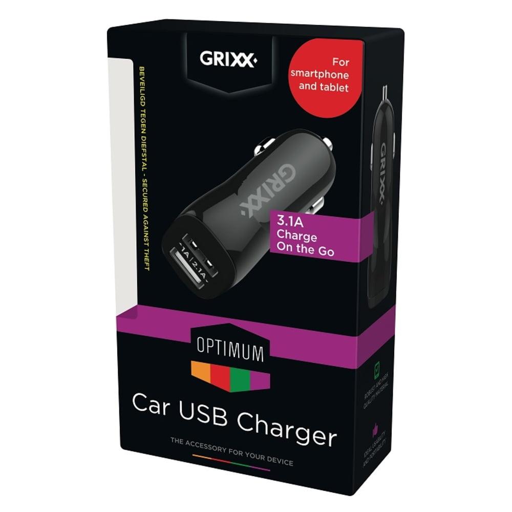 Incarcator auto, GRIXX Optimum - 2x USB 3.1A