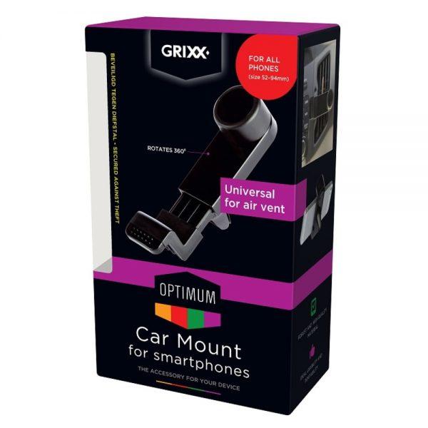 Suport auto pentru telefon, cu prindere in grila de ventilatie