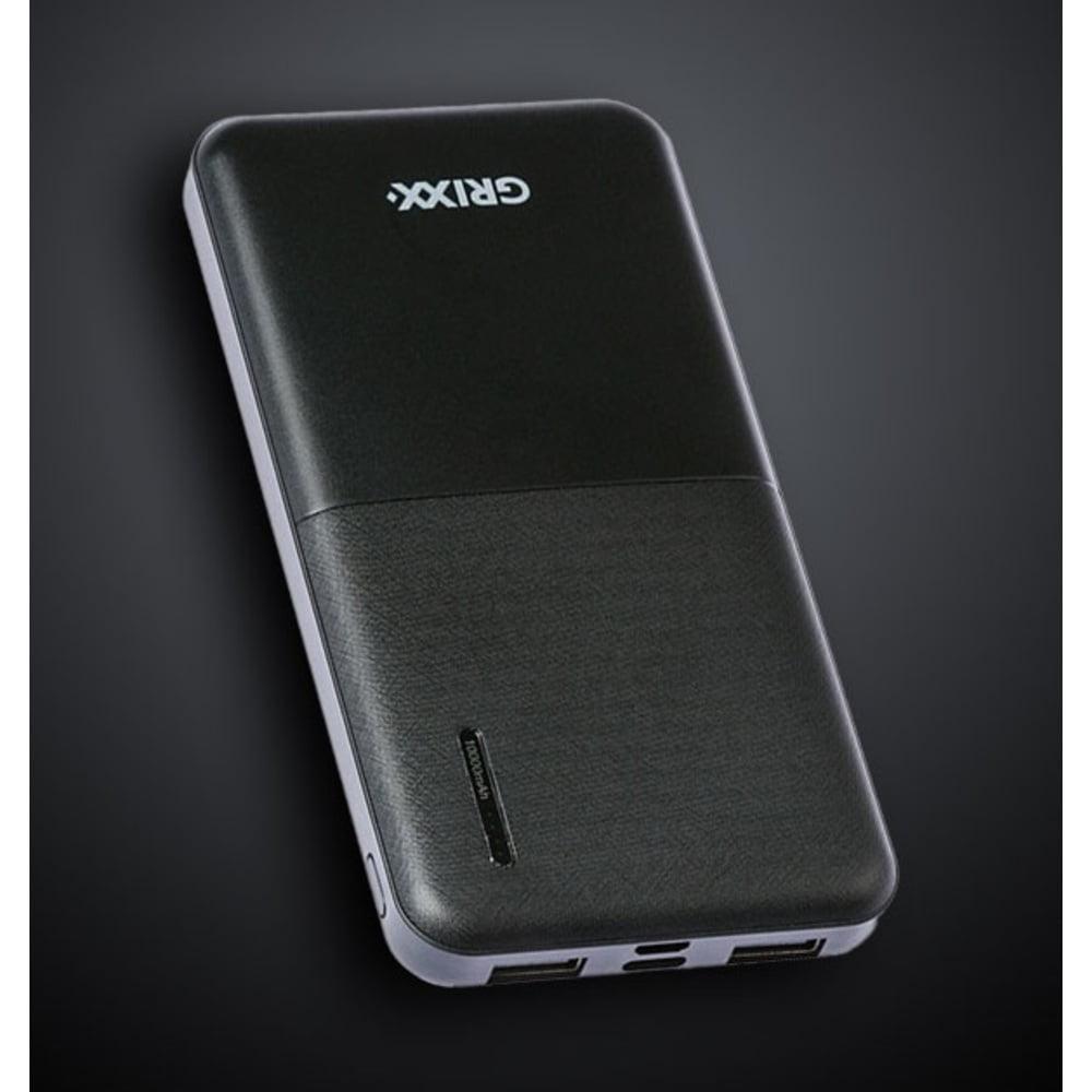 Baterie externa 10000mAh GRIXX Optimum cu porturi Micro USB si USB-C