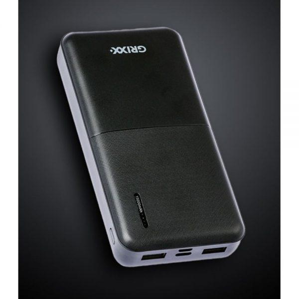 Baterie externa 15000mAh GRIXX Optimum, cu porturi Micro USB si USB-C