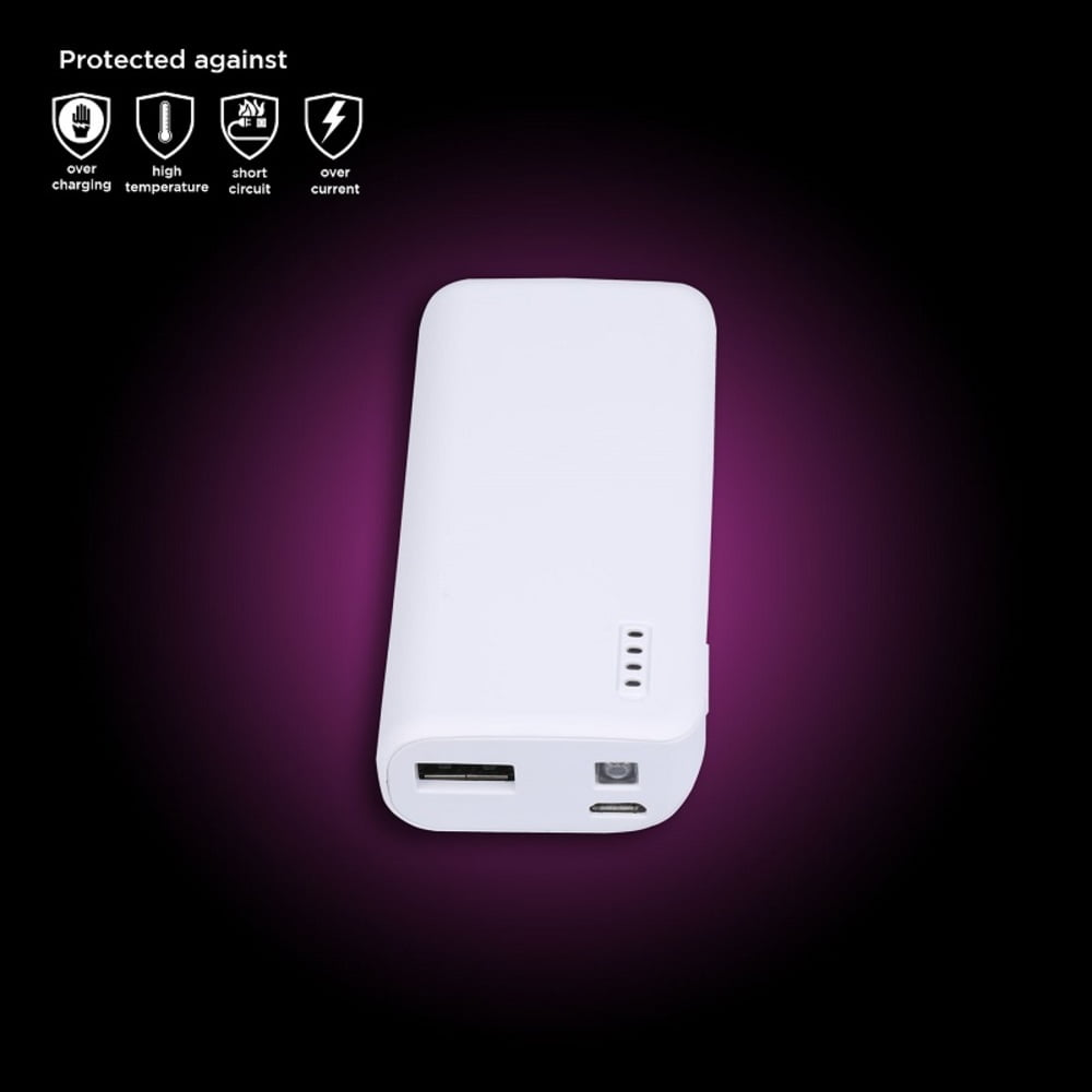 Baterie externa 5000mAh GRIXX - alba