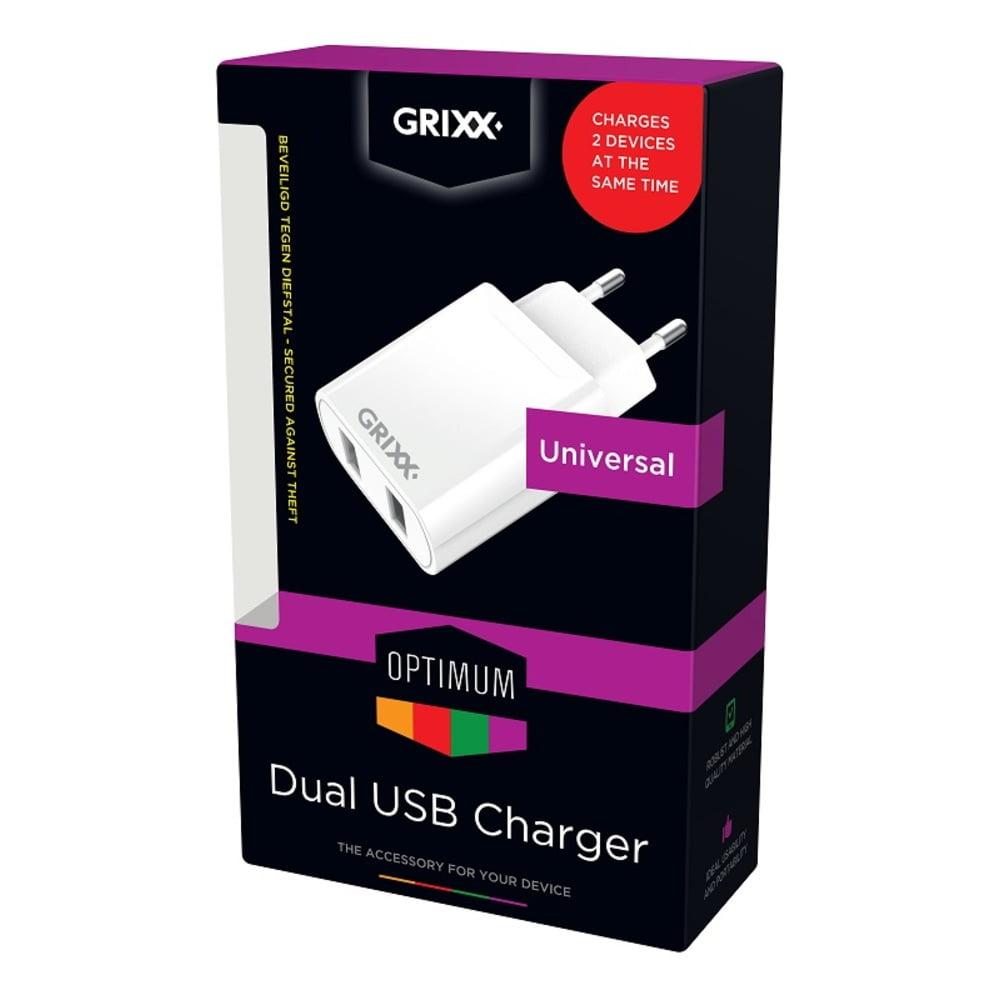 Incarcator priza 220V, GRIXX Optimum - 2 x USB
