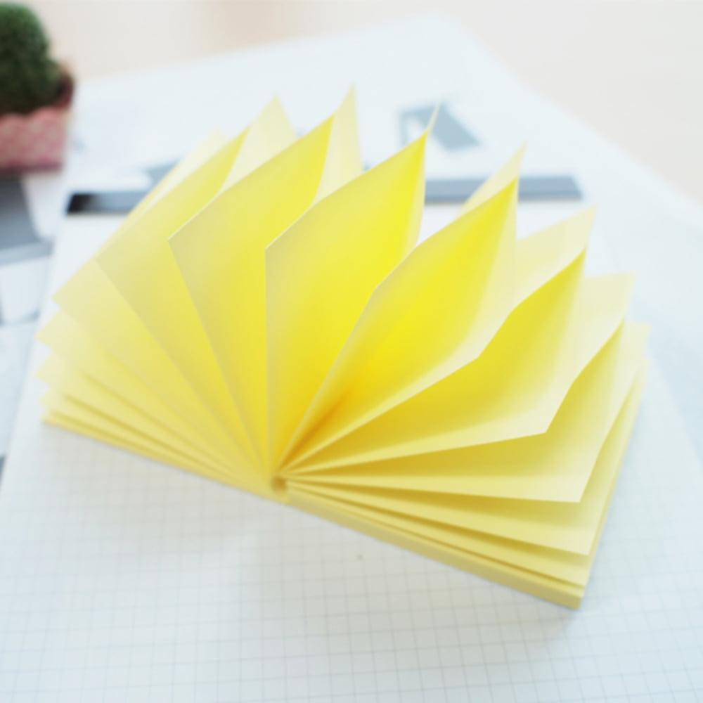 Notes adeziv 76x76 mm, 100 file, Stick'n Pop-up - galben pastel