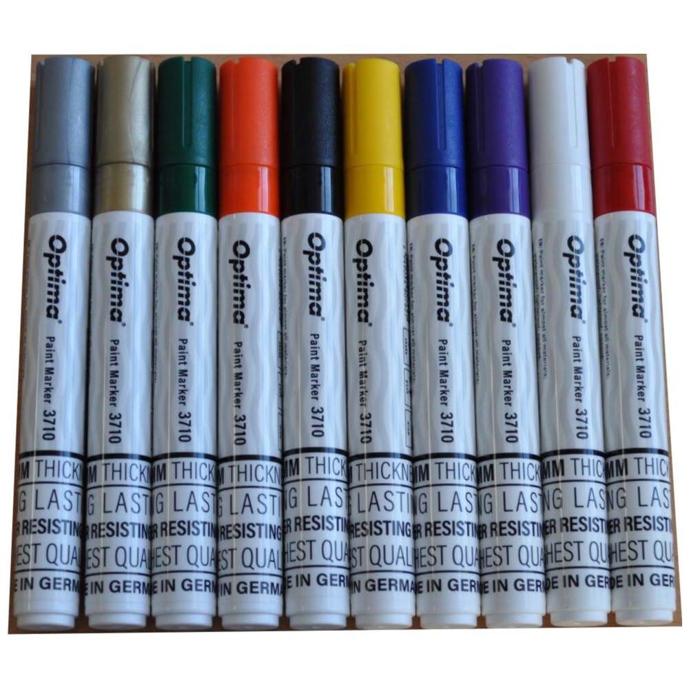 Marker cu vopsea Optima Paint 3713, varf rotund 2.0mm