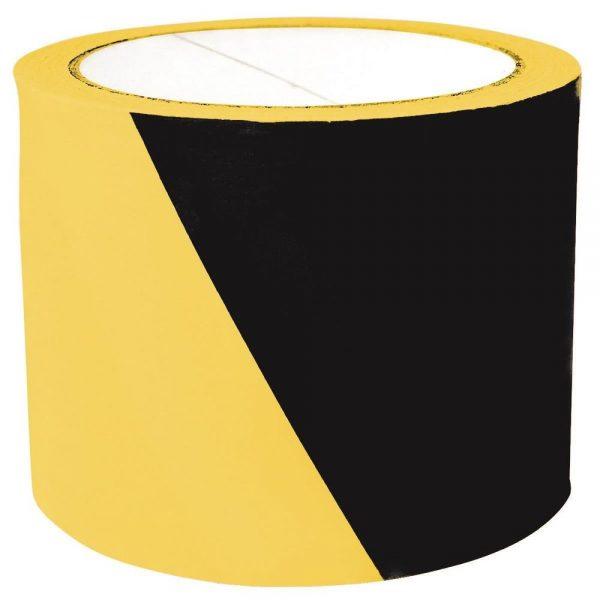 Banda pentru avertizare 75mm x 100m, Office Products  - negru/galben