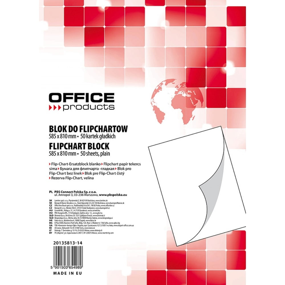 Rezerva hartie flipchart, 50coli/top, Office products - velina
