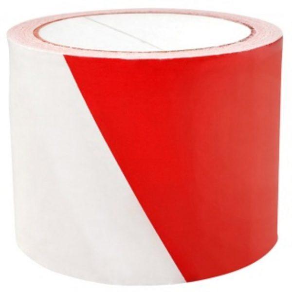 Banda pentru avertizare 75mm x 100m, Office Products - rosu/alb
