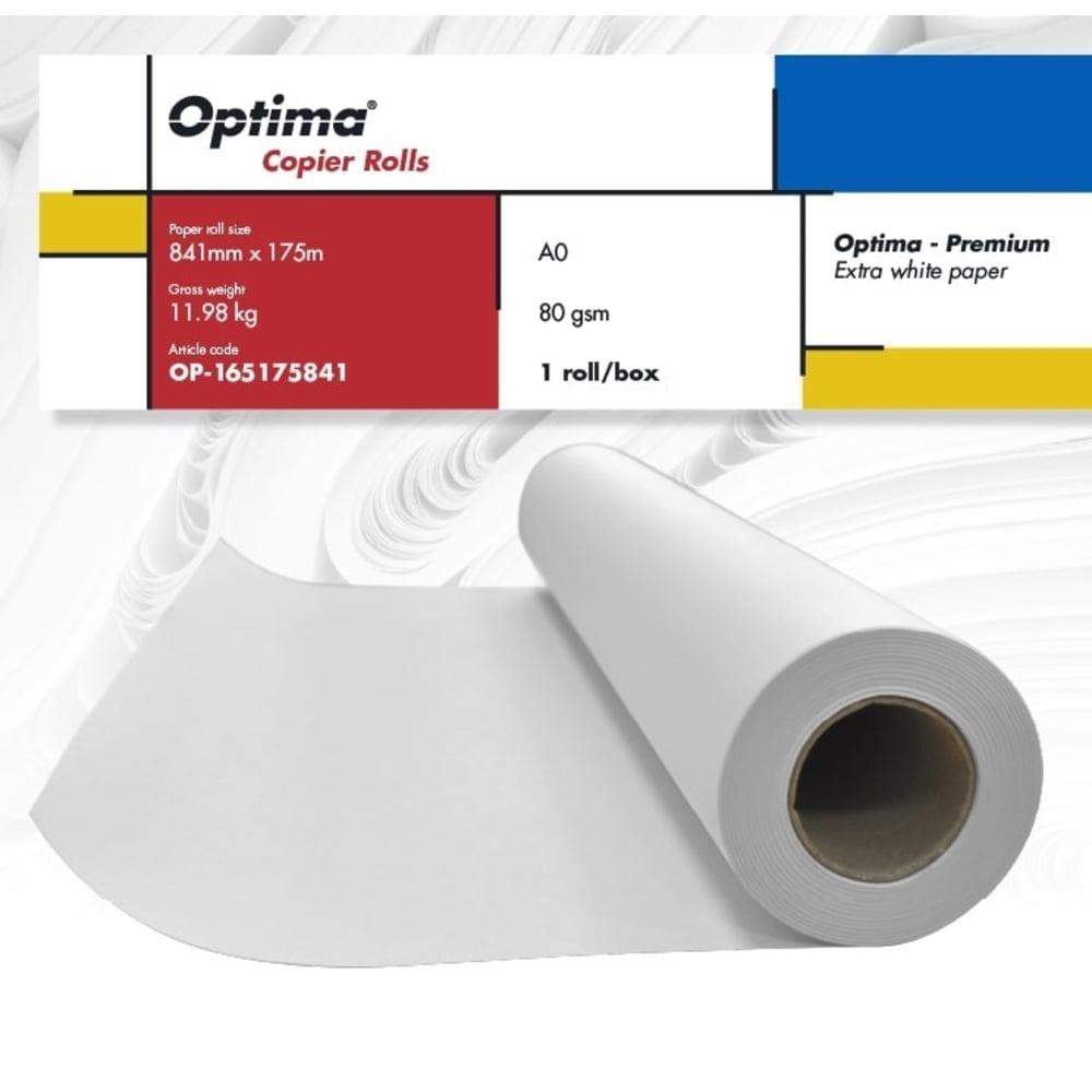 Rola copiator A0 841mm x 175m, 80gr, Optima - Premium