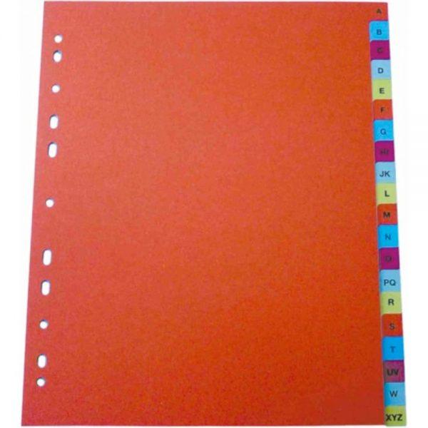 Index plastic color alfabetic A-Z, A4+, 125 mic., Optima