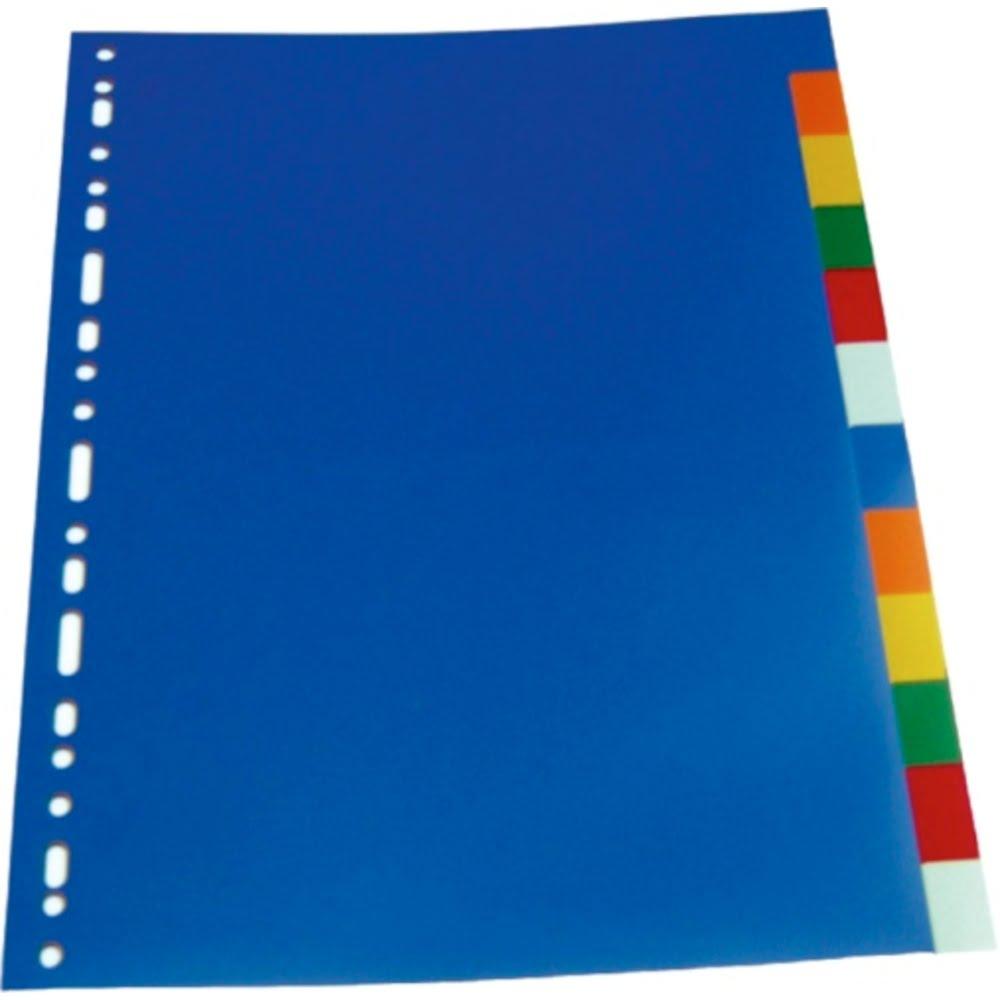 Separatoare plastic color, 20 culori/set, A4, OPTIMA