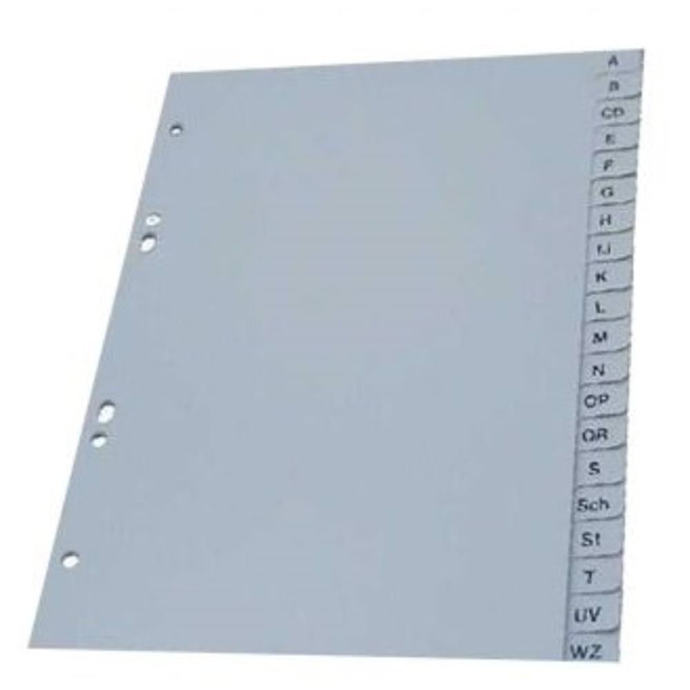 Index plastic alfabetic A-Z, A5, 120 mic., OPTIMA