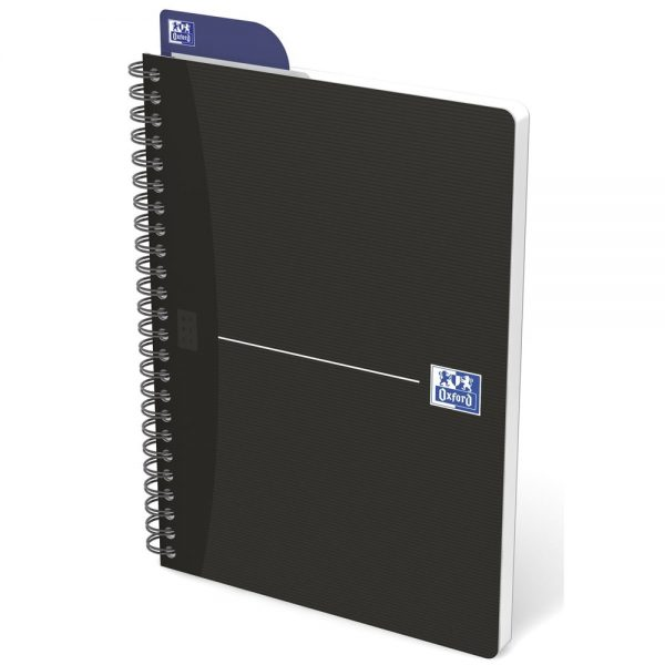Caiet cu spirala A5, OXFORD Office Essentials, 90 file