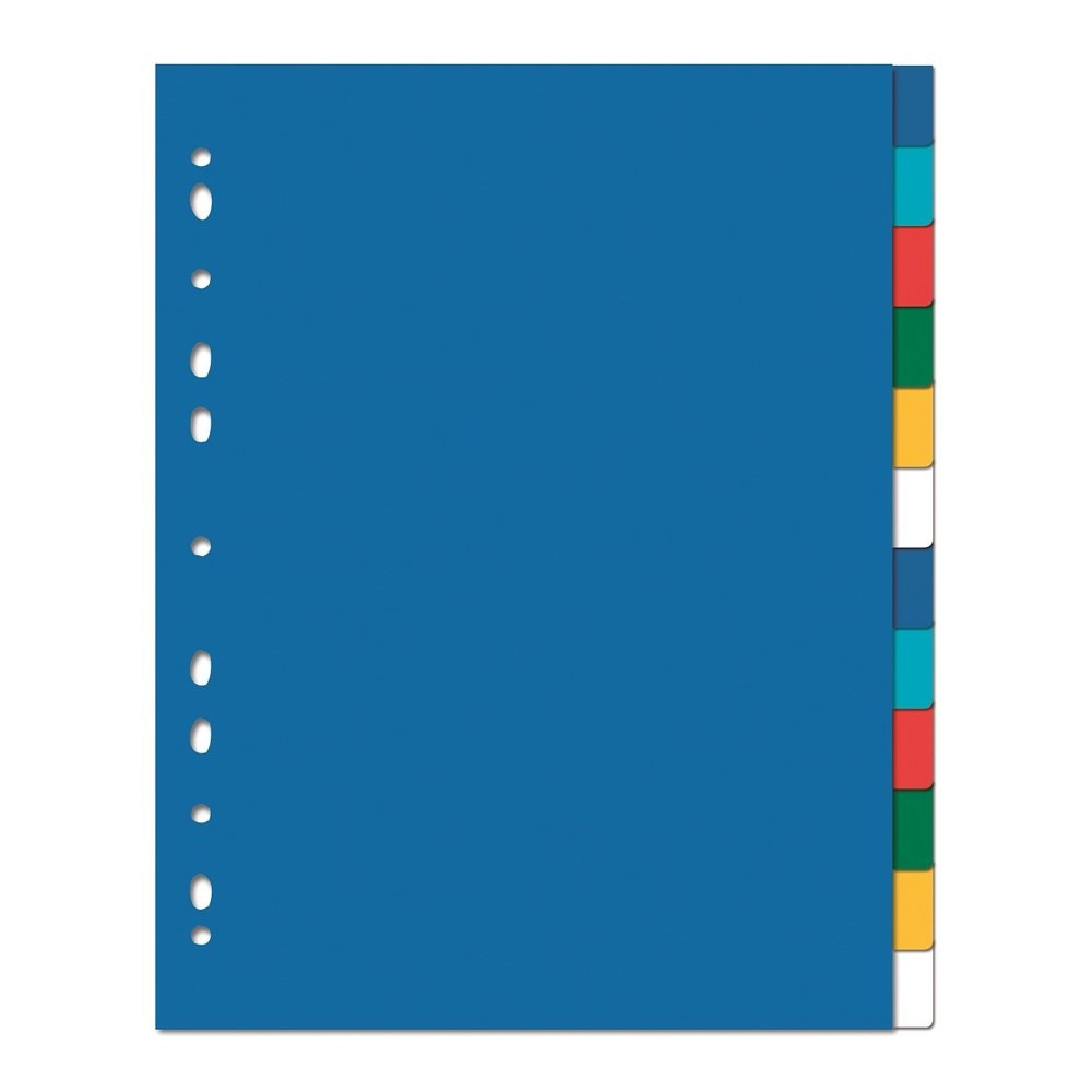 Separatoare plastic color, 12 culori/set, OXFORD