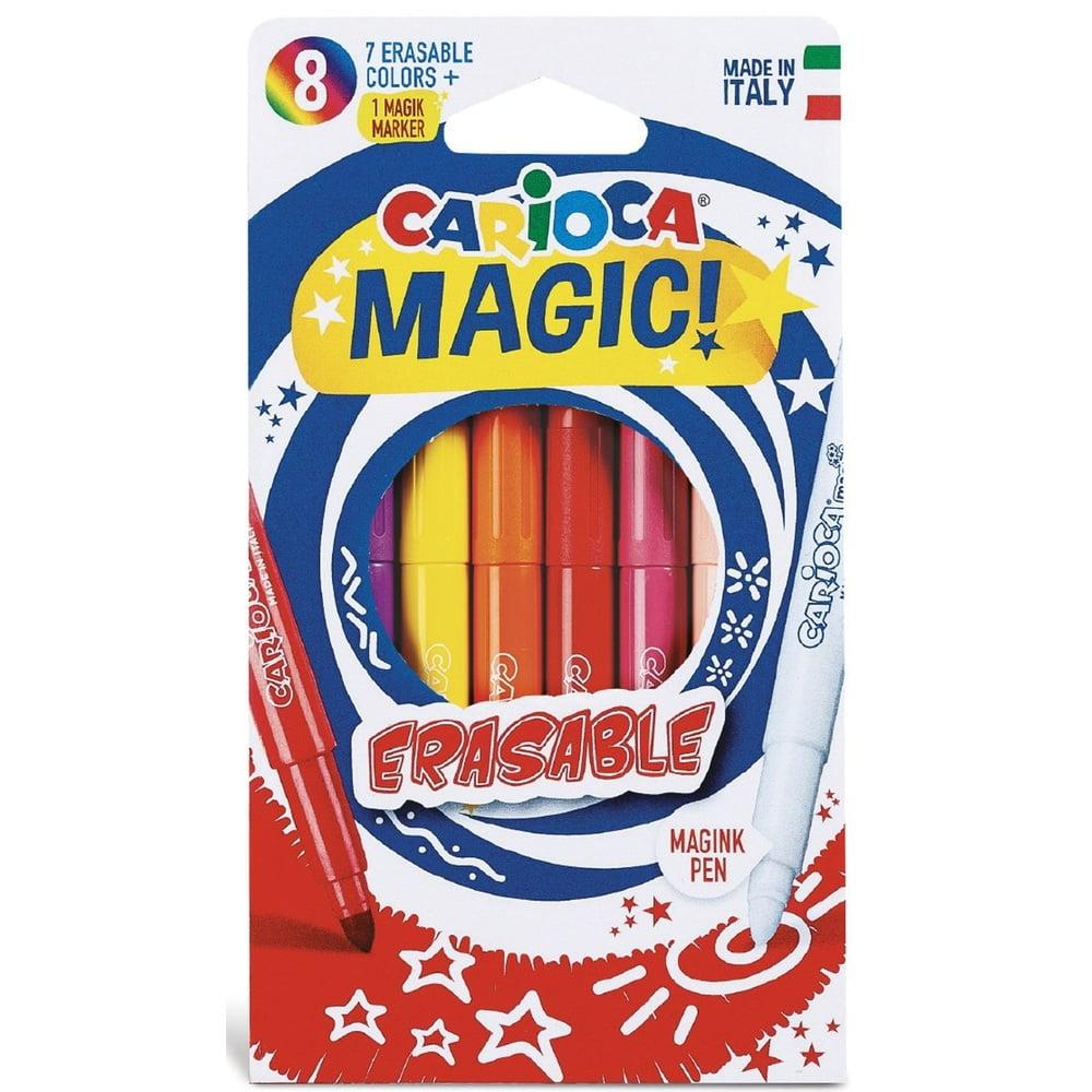 Carioci erasable varf gros - 6mm, 7 culori, CARIOCA Magic Erasable