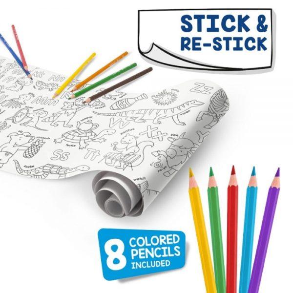 CARIOCA Coloring Roll, 30 x 198 cm/rola, hartie autoadeziva - ABC