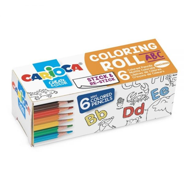Hartie autoadeziva 10 x 85 cm Coloring Roll Mini Carioca