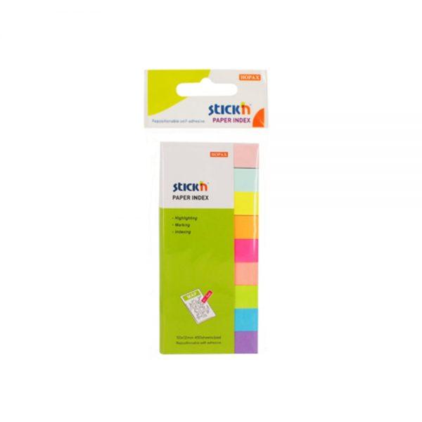 """Index hartie color 50 x 12 mm, 9 x 50 file/set, Stick""""n"""