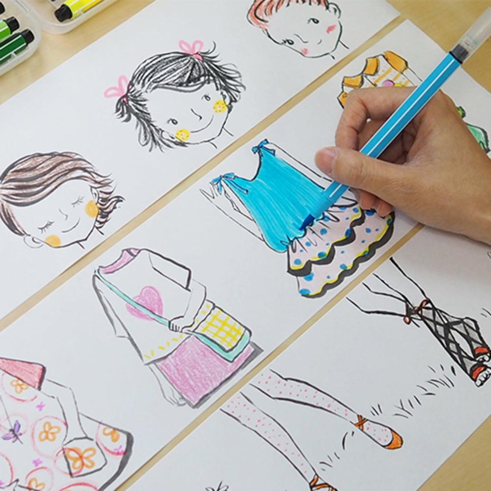 """Cutie creativa cu role pentru colorat, 3 buc/set, Stick""""n Little Designer"""