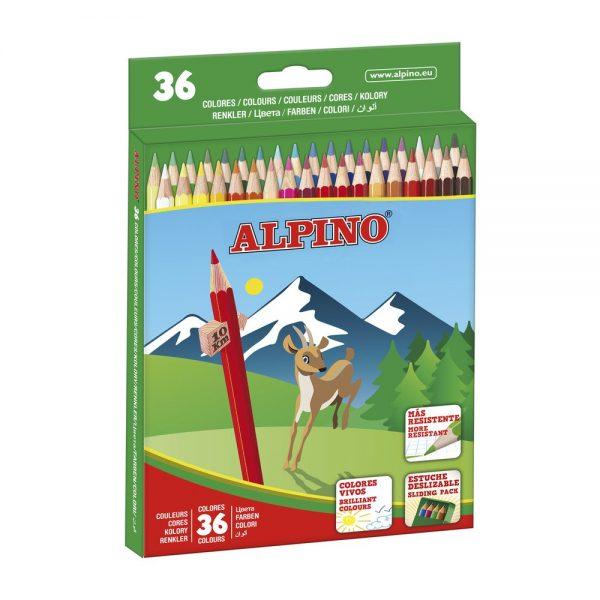 Creioane colorate 36 culori/cutie ALPINO